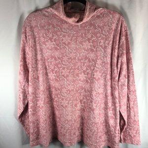 Fashion Bug Pink Print Turtleneck